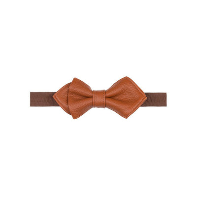 Deerskin Bowtie Tie WillLeatherGoods LAST CHANCE Rust Final Sale