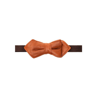 Deerskin Bowtie Tie WillLeatherGoods LAST CHANCE Rust/Red Final Sale