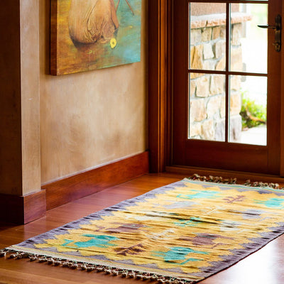 Dhurrie Rug Textile WillLeatherGoods