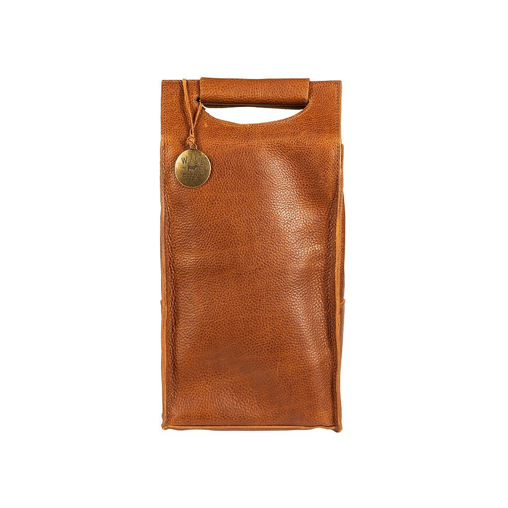 Leather Wine Carrier >> Double Wine Bottle Case Will Leather Goods