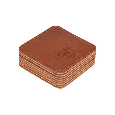 Reversible Coaster Set Cognac Side