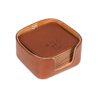 Reversible Coaster Set Cognac