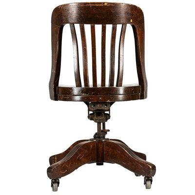 Wooden and Metal Chair Antique WillLeatherGoods