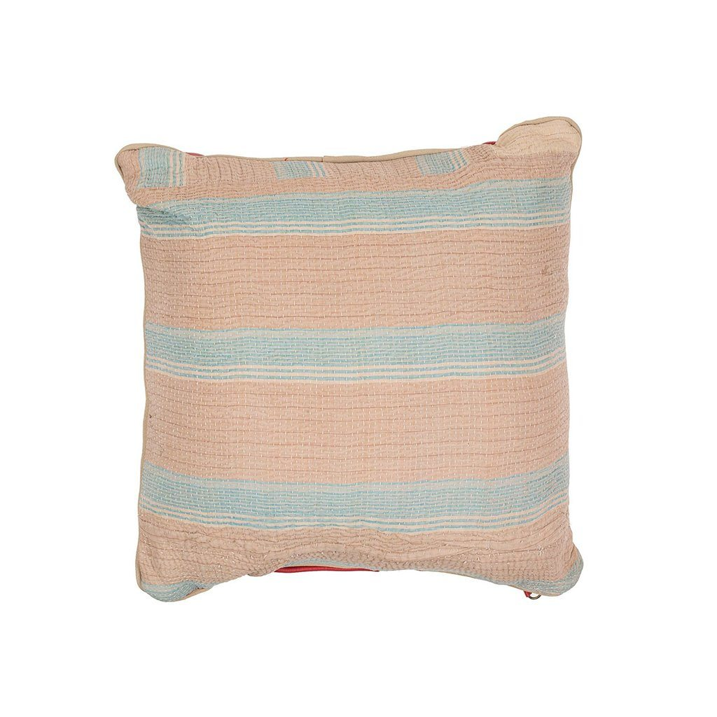 Kantha Small Pillow <br><font size=3 color= red> * FINAL SALE 50% off *</font>