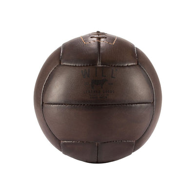 Golden Age Soccer Ball Dark Brown Side