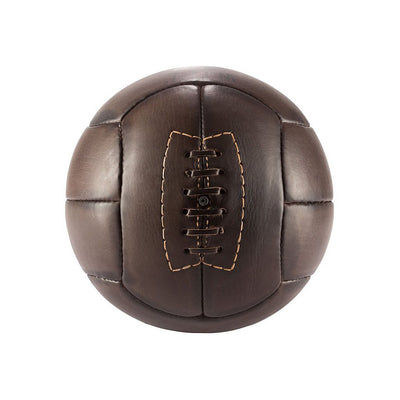 Golden Age Soccer Ball Sport WillLeatherGoods LAST CHANCE Dark Brown Final Sale