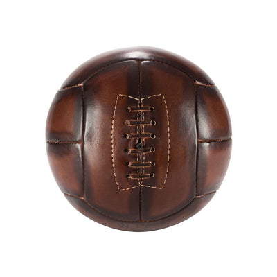 Golden Age Soccer Ball Sport WillLeatherGoods LAST CHANCE Tan Final Sale