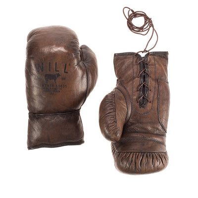 Golden Age Boxing Gloves Sport WillLeatherGoods Dark Brown