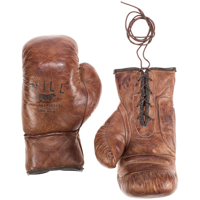Golden Age Boxing Gloves Sport WillLeatherGoods Tan