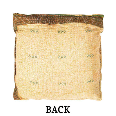 Reversible Kantha Pillow Cover Home WillLeatherGoods