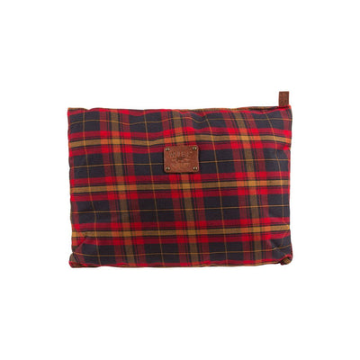 Will Eco Pillow Pillow WillLeatherGoods Plaid/Cognac