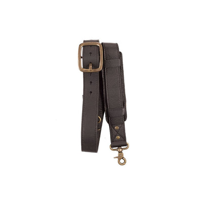 Vintage Lock Strap with Shoulder Pad Strap WillLeatherGoods Black