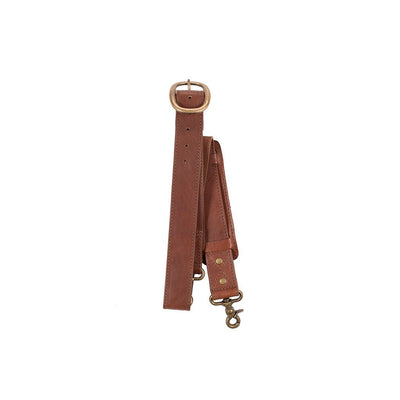 Vintage Lock Strap with Shoulder Pad Strap WillLeatherGoods Cognac