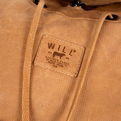 All Weather Embossed Leather with Double Pockets Backpack WillLeatherGoods