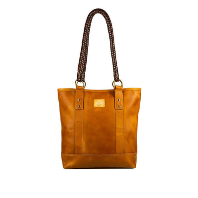 Antique Brown Textile Tote Will Leather Goods