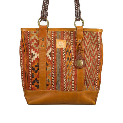 Antique Brown Textile Tote Will Leather Goods 01 / Brown