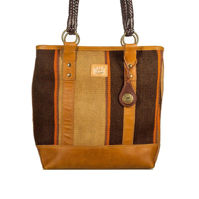 Antique Brown Textile Tote Will Leather Goods 06 / Brown