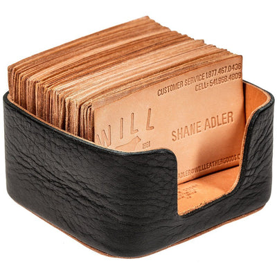 Business Card Holder Office WillLeatherGoods