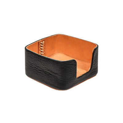 Business Card Holder Office WillLeatherGoods Black