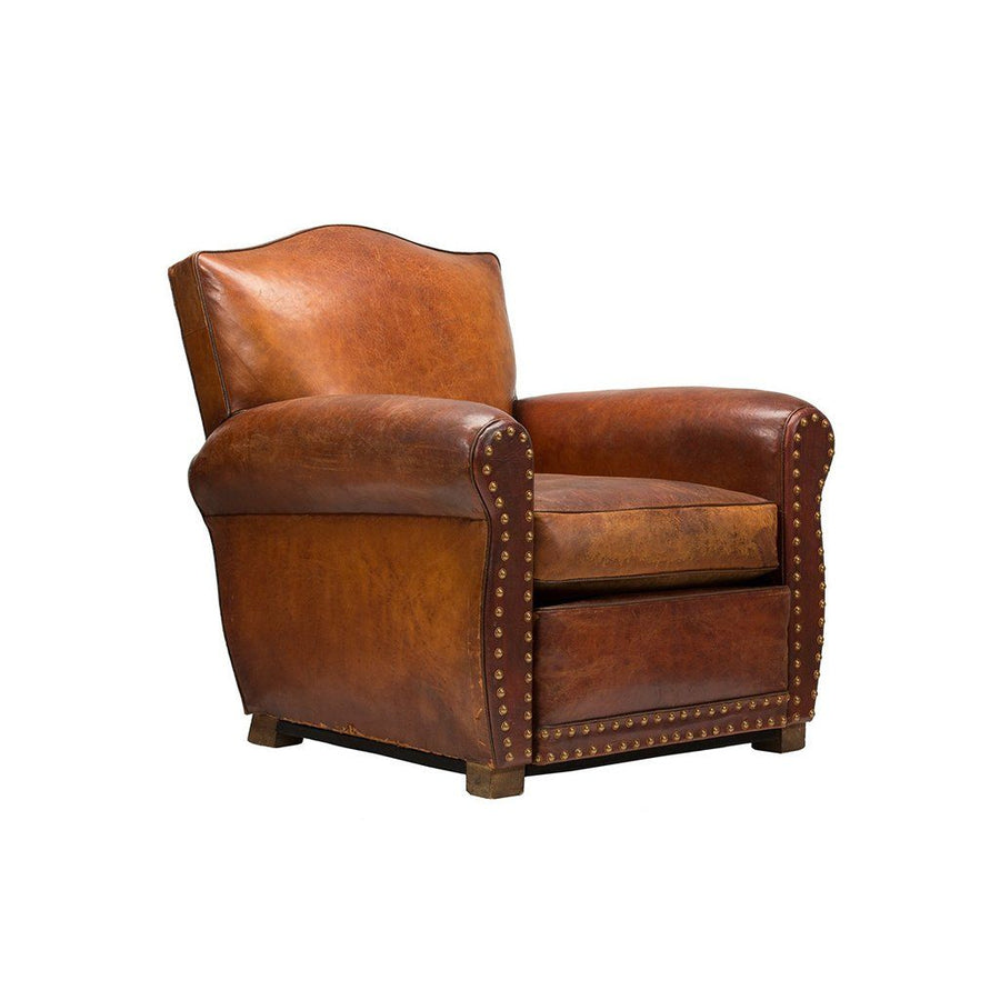 Vintage French Club Chair Cognac