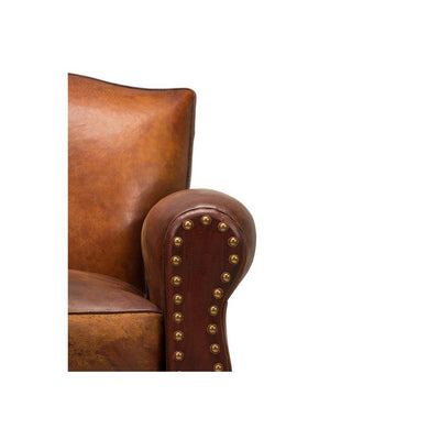 Vintage French Club Chair Arm Rest with Stud detail