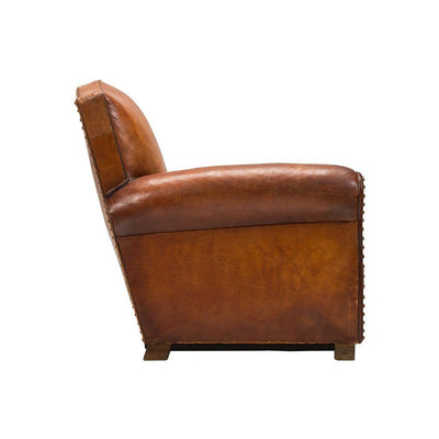 Vintage French Club Chair Side View