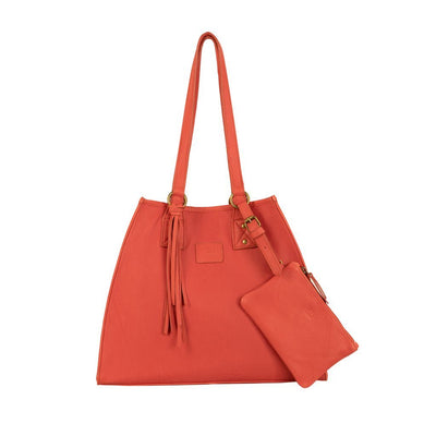 Leather Artisan Tote - FINAL SALE Will Leather Goods Coral