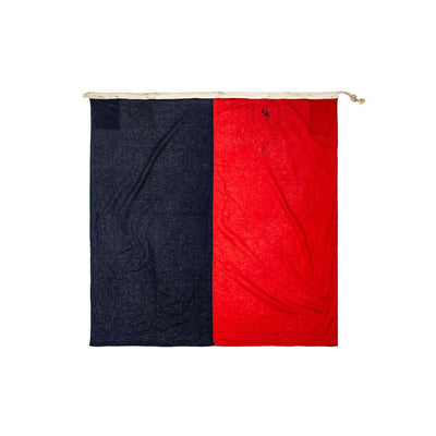 Large Vintage Nautical Flag Antique WillLeatherGoods