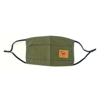 Face Mask - Individual Clothing WillLeatherGoods Olive One Size