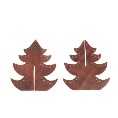 Leather Christmas Tree Home WillLeatherGoods