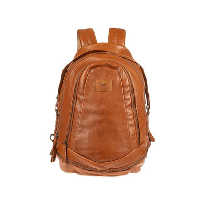 All Weather Leather Double Zip Backpack Backpack WillLeatherGoods Tan