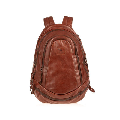 All Weather Leather Double Zip Backpack Backpack WillLeatherGoods Cognac