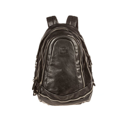 All Weather Leather Double Zip Backpack Backpack WillLeatherGoods Black