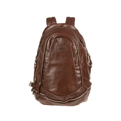 All Weather Leather Double Zip Backpack Backpack WillLeatherGoods Brown