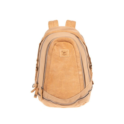 All Weather Canvas and Leather Double Zip Backpack Backpack WillLeatherGoods Natural