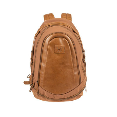 All Weather Canvas and Leather Double Zip Backpack Backpack WillLeatherGoods Khaki