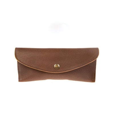 Glasses Case Sunglass Case WillLeatherGoods Brown
