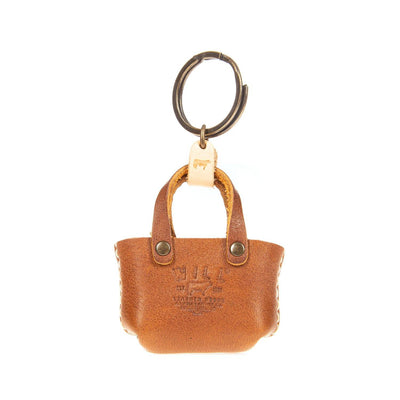 Miniature East West Tote Keychain WillLeatherGoods