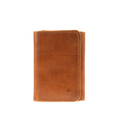 Leather Trifold Wallet WillLeatherGoods Cognac