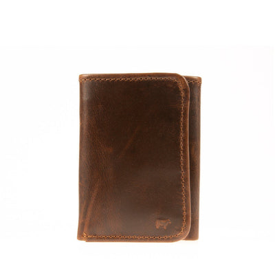 Leather Trifold Wallet WillLeatherGoods Deep Brown Glaze
