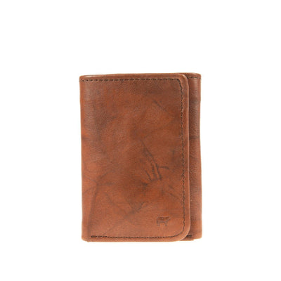Leather Trifold - FINAL SALE Wallet WillLeatherGoods Black Brown Marble