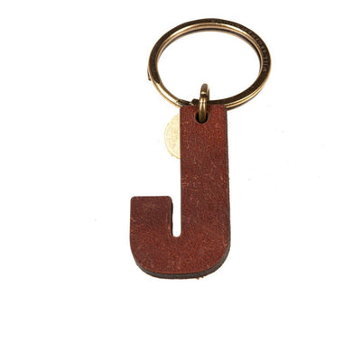 Alphabet Keychain Keychain WillLeatherGoods J Brown