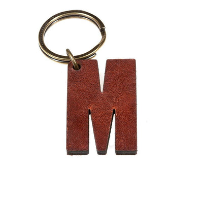 Alphabet Keychain Keychain WillLeatherGoods M Brown