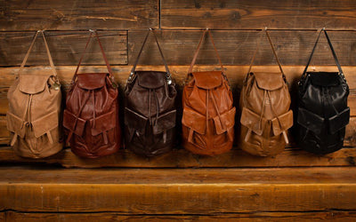 LUND - All Weather Leather Backpack with Flap - PRESALE Backpack Monreaux