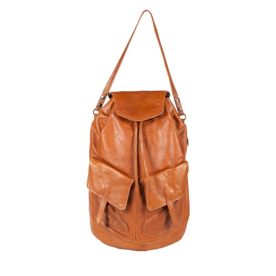 LUND - All Weather Leather Backpack with Flap - PRESALE Backpack Monreaux Cognac