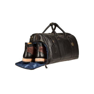 Boots in Nylon Lined Shoe Compartment of Leather Atticus Duffle