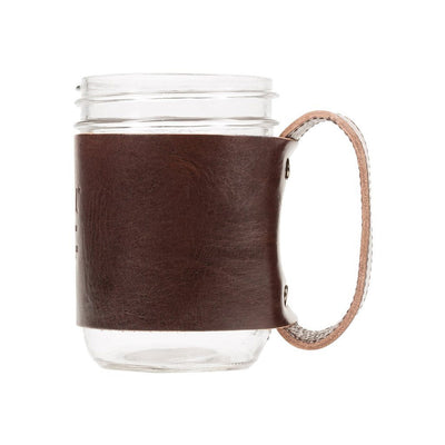 Mason Jar Sleeve Brown