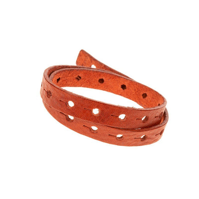 Wide Perforated Cuff Cuff WillLeatherGoods