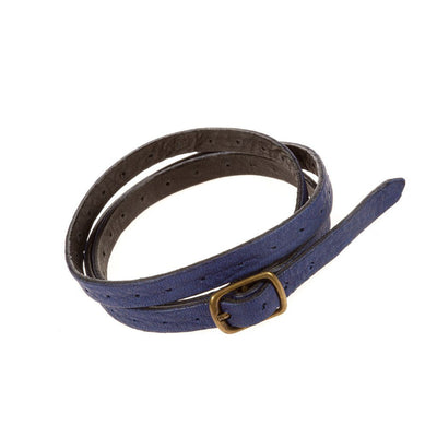Reversible Lambskin Cuff Cuff WillLeatherGoods Blue/Black