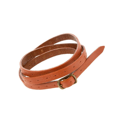 Reversible Lambskin Cuff Cuff WillLeatherGoods Orange/Tan